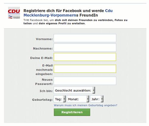 Registriere dich für Facebook und werde Cdu Mecklenburg-Vorpommerns FreundIn