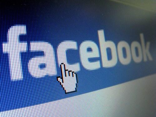 Eine Nahaufnahme des Facebook-Logos