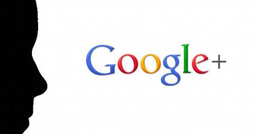 Ein Schatten vor dem Logo von Google Plus