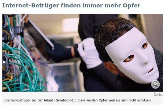 Internet-Betrüger bei der Arbeit (Symbolbild). Viele werden Opfer, weil sie sich nicht schützen