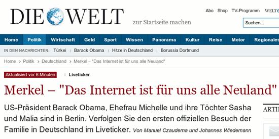 Das Internet ist für uns alle Neuland