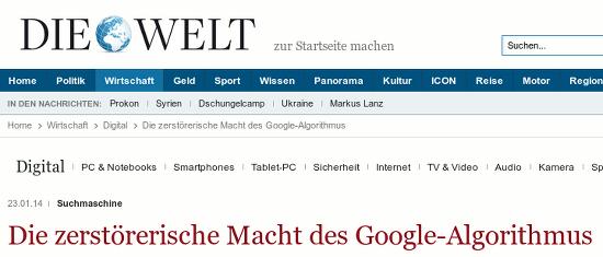 Suchmaschine: Die zerstörerische Macht des Google-Algorithmus