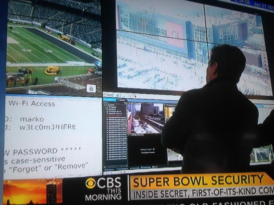 Super Bowl Security - Total geheim mit im Fernsehen sichtbarem WLAN-Passwort